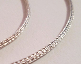 Hand knit silver chain