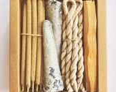 Rituals Incense Pack. Palo Santo Incense.Cedar Ropes.Mexican Copal Cones. Palo Santo Wood.