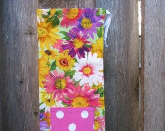 Flower print wine bag