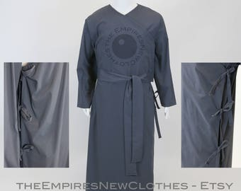 Under Robe for Emperor Dark Lord, Charcoal Grey Fabric, with Ties and Sash, Costume, Cosplay, Custom made to your Measurments, ROTJ