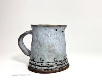 Bluish ceramic handmade Mug - Handcrafted Bluish Ceramic Mug - Bluish Ceramic Mug