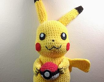 Amigurumi Pikachu, Amigurumi Pokémon, crochet Pokémon Pikachu
