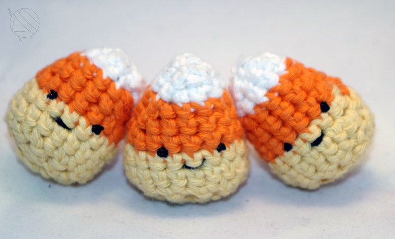 Candy Corn Amigurumi 3er Pack crochet sweets Halloween image 0
