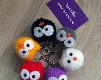 Baby Owls Amigurumi Keychain