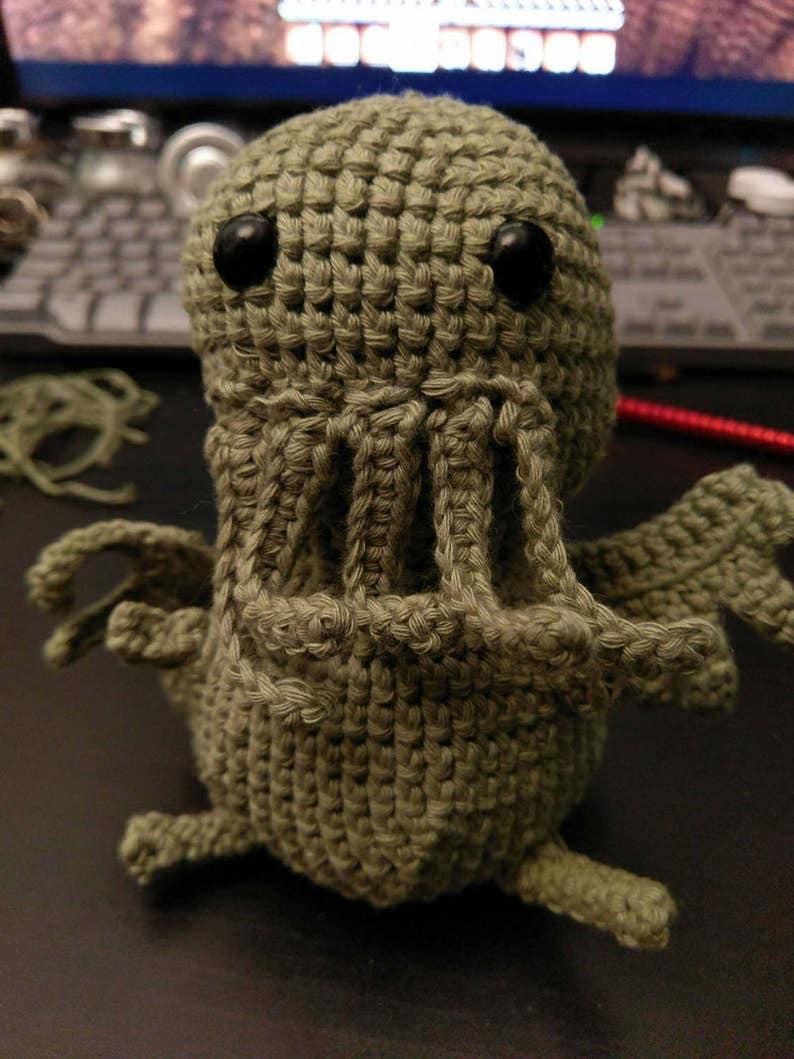 Amigurumi Cthulhu Handmade Amigurumi Crochet Cthulhu Call image 0