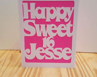 Personalized Stationery ~ Note Cards~ Sweet Sixteen ~ Quinceanera ~ Birthday Card ~ Greeting Card ~ Custom Note Card ~ Monogram Card ~ Sweet