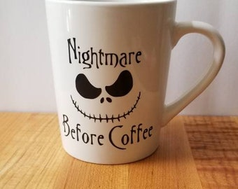 Nightmare before Christmas ~ Jack Skellington ~ Valentine's Day Mug ~ Coffee Gifts ~ Tim Burton ~ Jack and Sally ~ Custom Coffee Mug ~ Love