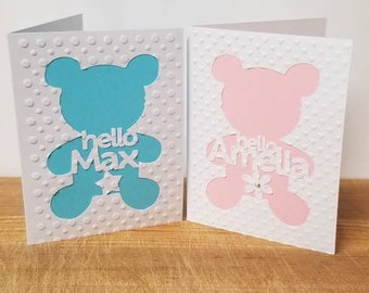 Personalized Baby Cards ~ Hello Baby ~ Welcome to the World ~ Newborn Cards ~ Custom Baby Cards ~ Baby Announcement ~ Baby Shower ~ New Baby