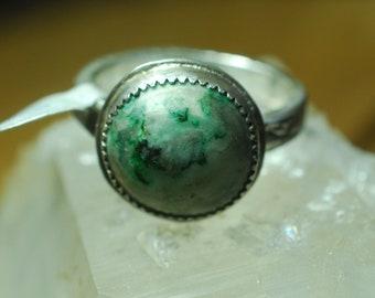 Mariposite Stone ring