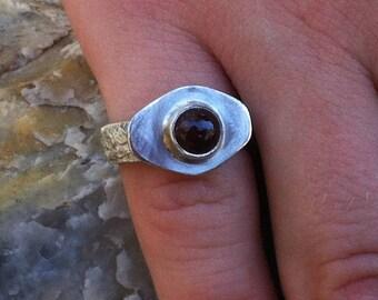 Red Garnet ring 5-5, Little girls ring, Garnet ring, January Birthstone ring, Silver Garnet ring, Garnet Jewelry,