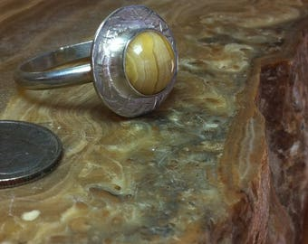 R50-11 3/4, Crazy Lace Agate ring