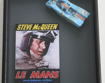 framed Porsche 917 Le Mans car