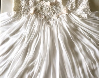 Vintage Jonquil By Diane Samandi white polyester lace Gown Bridal size M 3ffe1220a