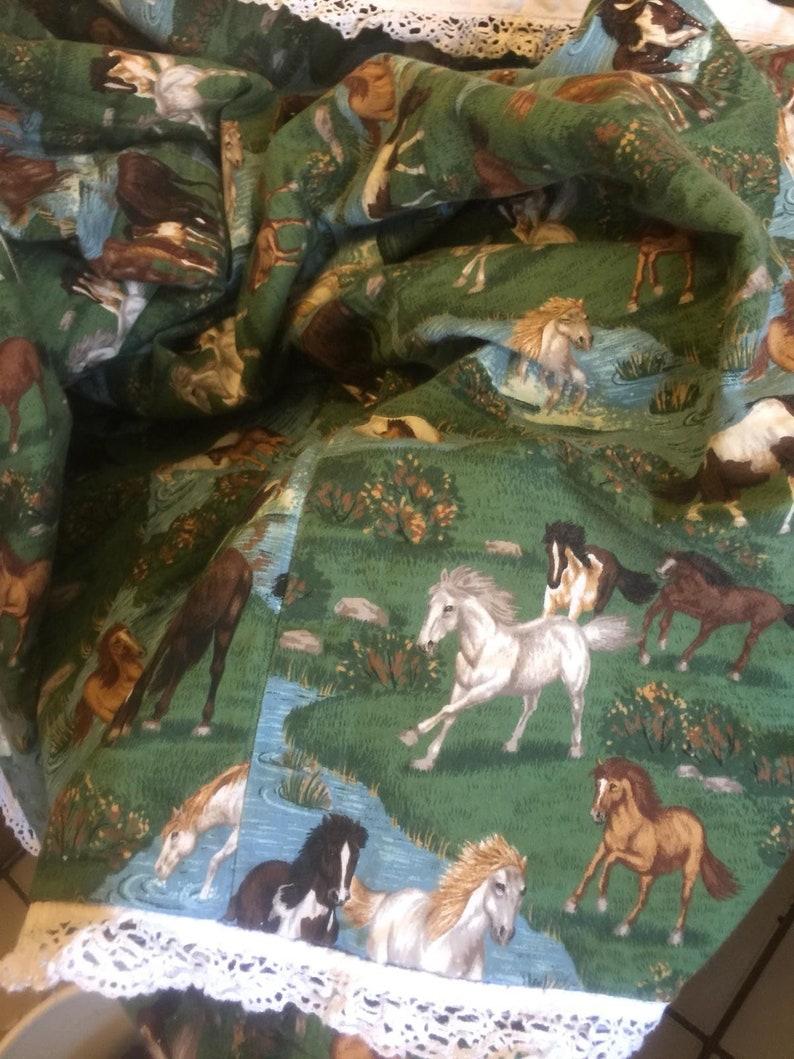 2 sham unbranded Vintage western Style wild Horses Stamped Comforter Set 3 Pcs Comforter