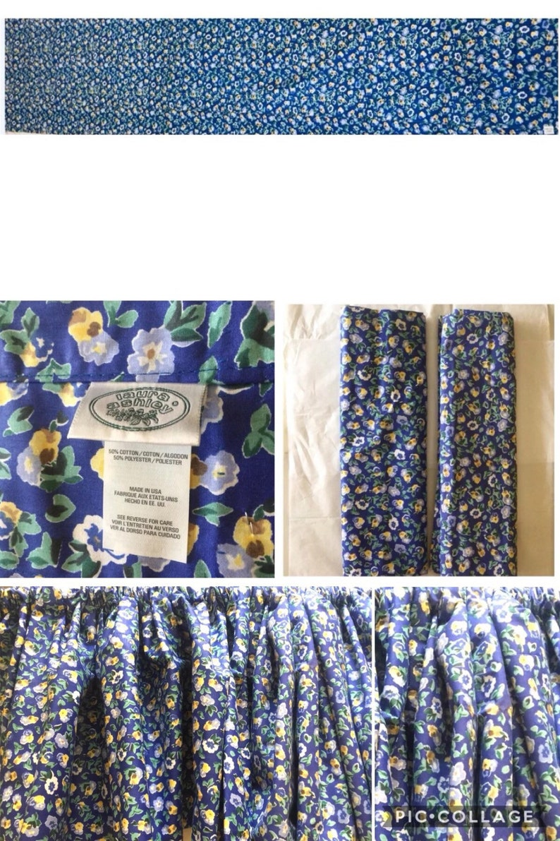 b4e3882d0f6 Laura Ashley Polyanthus Prinrose Blue Yellow Floral Two Pieces