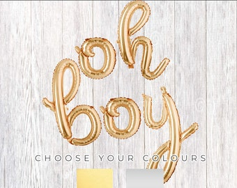 """HE OR SHE Rose Gold Silver 3d Letters 16/"""" Balloons Gender Reveal Party Banner"""