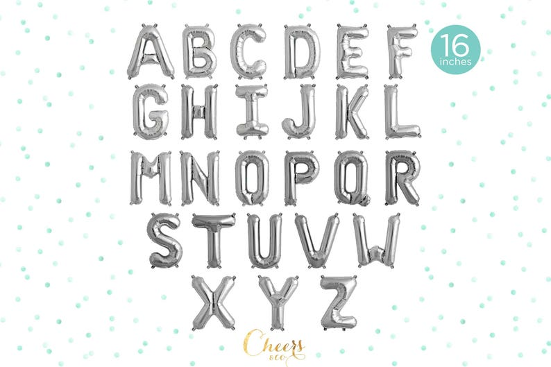 5pcs 16 letter balloons BABY and your baby initial