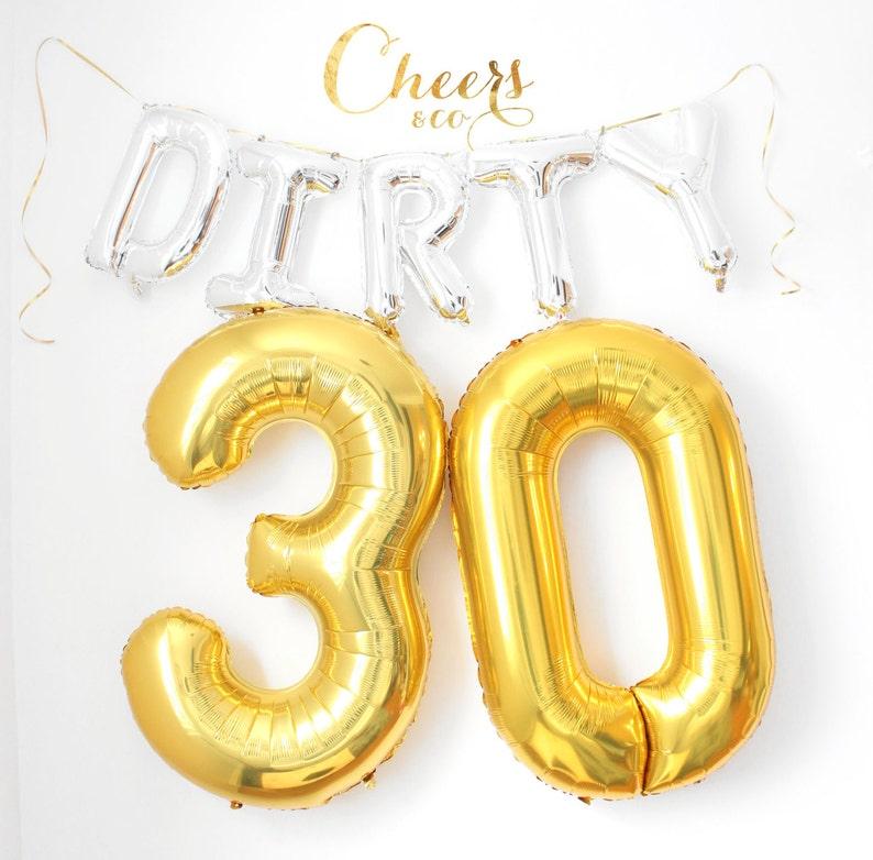 62702c502a4d 40-Zoll-große 30 Gold Schwarz Rose Goldfolie Nummer Ballon - Geburtstag  Ballon - 30 Ballon - 30. Geburtstag - Nummer Ballon - Partei-Ballon