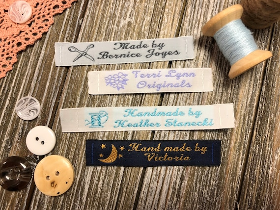 25 Personalized 100/% Woven Sewing Labels 1 Wide made by Label Weavers