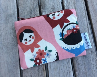 Peachy Dolls - Notions pouch with zipper