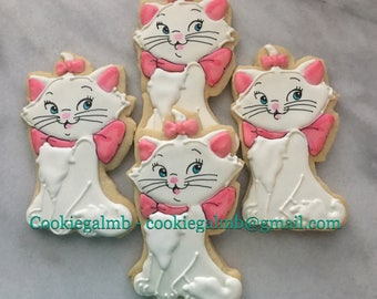 Marie the Cat Inspired Cookies