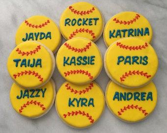 Softball/Baseball Cookies