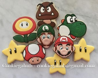 Super Mario Inspired Cookies