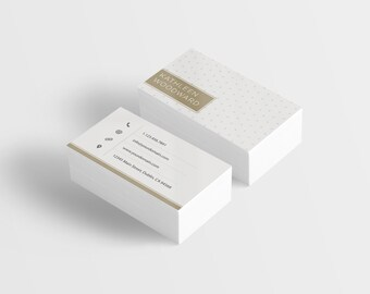 Gold Business Card Etsy
