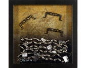 3D, mixed media, authentic & collectible, Industrial wall artwork – 25,5x25,5cm - Game 4 - Unique gift ideas - Greek modern art