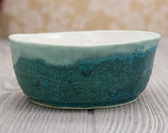 Ceramic bowl, Turquoise, Pottery bowl, Ice cream bowls, Ramen bowl, Teal