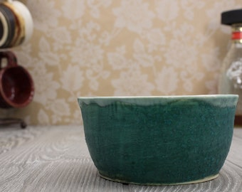 Ceramic bowl, Turquoise, Teal, Pottery bowl, Ice cream bowls, Ramen bowl, Ceramics and Pottery, Soup bowl