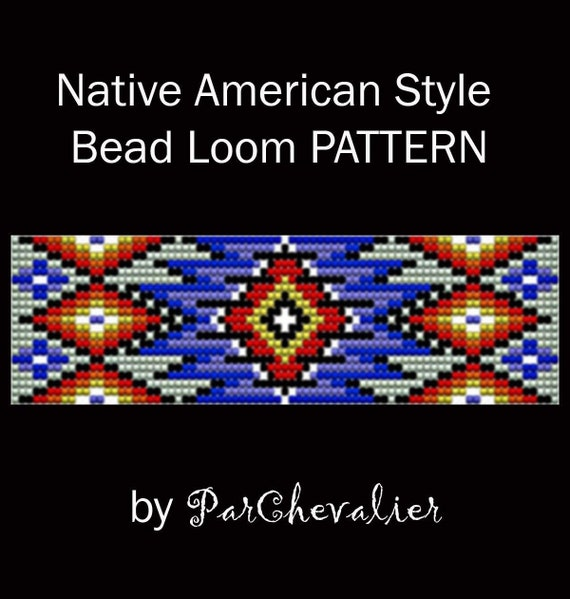Chunky Colorful Native America Style Bead Loom Pattern Stripes Etsy