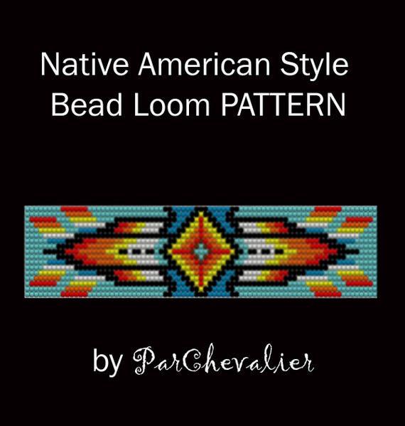Native America Style Bead Loom Pattern Loom Bead Bracelet Etsy