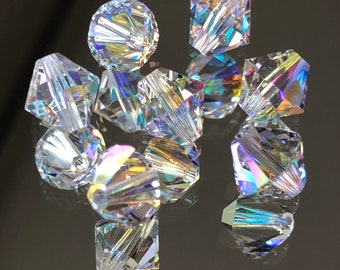 Swarovski Crystal Beads 5328 6mm Lt Rose Cal Bicone Pack of 24
