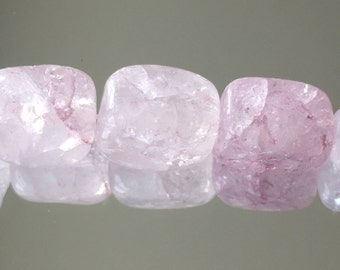 Gemstone Beads - Pink Beads - Ice Flake Quartz Beads - Quartz Nuggets Beads 8-12mm - Package of Approx.30 Beads (#585)