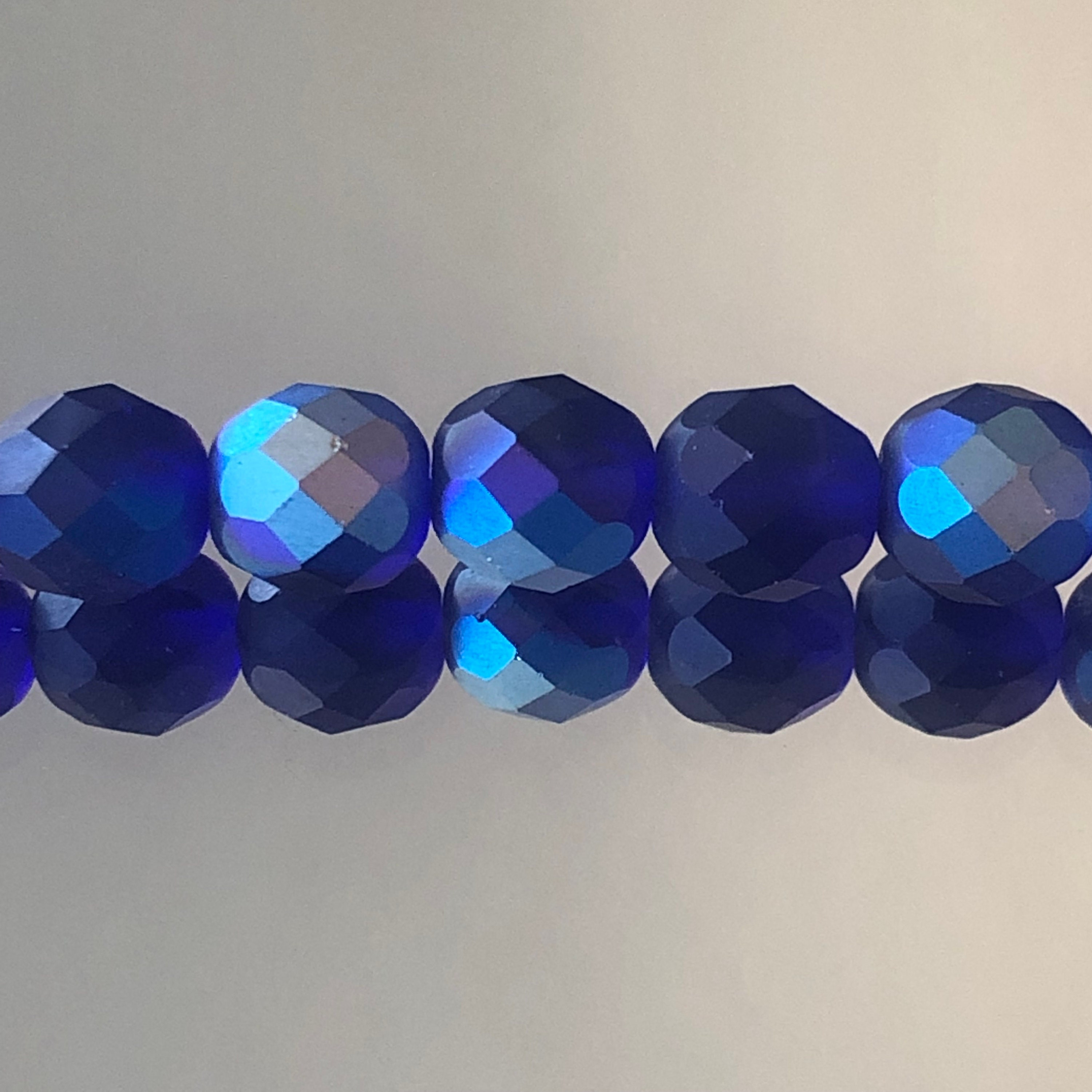Crystal Clear AB 50 6mm Round Faceted Fire Polish Czech Glass Beads