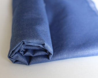 Dark blue Chambray lightweight denim, sold by half yard