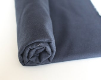 Brushed navy Cotton Tencel Twill, sold by the half yard