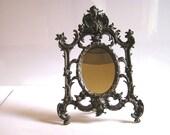 Antique Bronze Vanity Mirror in Louis XV style, ca 1890