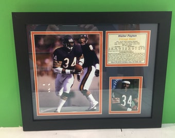 Walter Payton framed photo  collage Chicago Bears