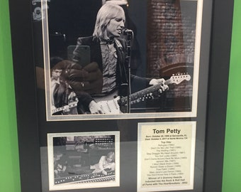 Tom Petty framed photo collage