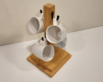 Coffee Mug Tree - Farmhouse Mug Tree - Rustic Coffee Cup Holder