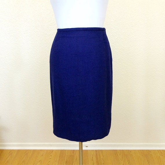 THE CLASSIC - 50s Evan-Picone Pencil Skirt - Navy