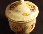 Empire Porcelain Covered Bowl Trinket Box Pansies
