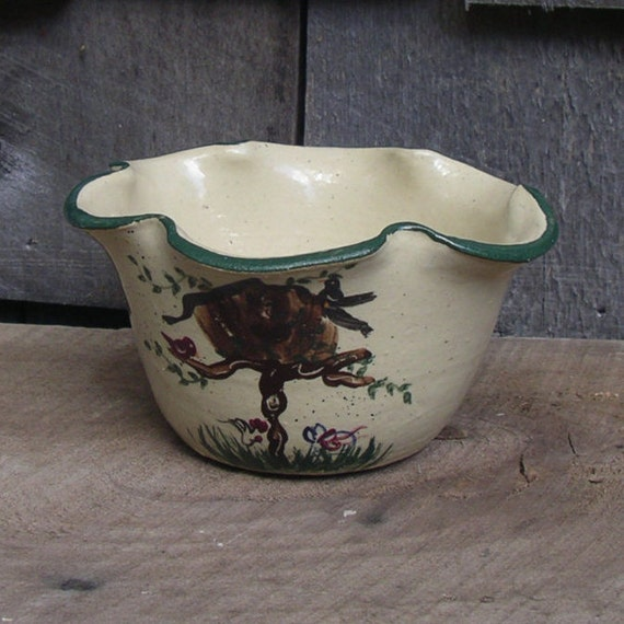 C Miller Pottery Plate Bowls