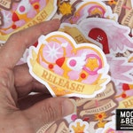 "Magical Girl Sakura Stickers / Release, Invincible Spell, Hope / CCS Fanart, Anime Gifts / 3"" Vinyl Weatherproof Sticker Pack, Waterproof"