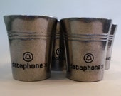 4 DATAPHONE II Tumblers Bell System Telephone Early Computer Advertising Premium AT T Collectible Mint Julep Bar Ware Wilton Armetale Pewter