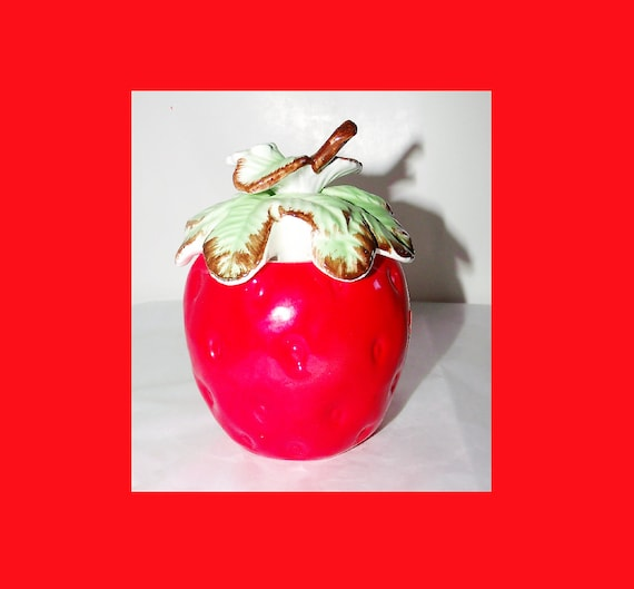 Porzellan-Erdbeer-Gelee / Jam Jar w / Francalanza Silber