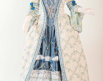 735f0931e48 18th century style dress - Summer Breeze- Robe a l Anglaise- Robe a la  Polonaise for Carnaval