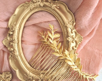 Golden Rosemary bridal hair comb